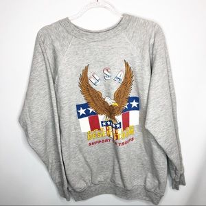 Vintage Desert Storm troops USA sweatshirt XL soft